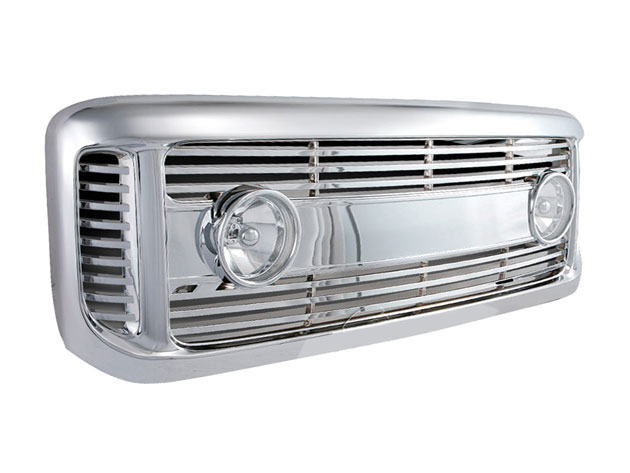ford super duty 1999 to 2004 grille shell with fog lights